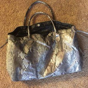 Large Snake Print Dump Bag From DSW